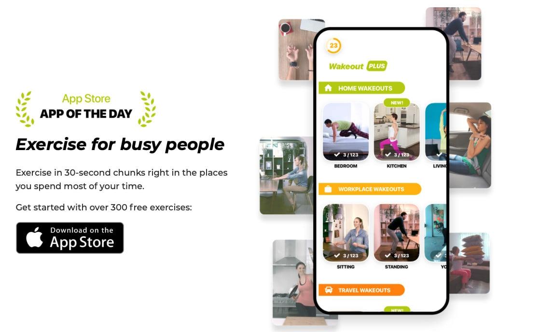 App Wakeout với những bài tập thể dục cho tất cả mọi người