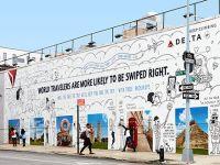 Chiến dịch quảng cáo ngoài trời độc đáo của Delta AirLines với bức tường sống ảo tuyệt đẹp