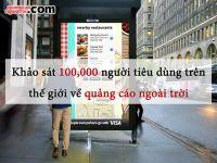 [OOH] Khảo sát ý kiến 100.000 người tiêu dùng trên thế giới về quảng cáo ngoài trời