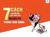 OnShop: 7 cách chuyển đổi lượt truy cập website thành đơn hàng