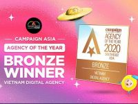 Mango Digital thắng giải Digital Agency of the Year 2020 do Campaign Asia, Pacific tổ chức