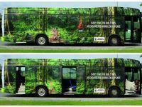 Quảng cáo xe buýt cảnh báo tốc độ biến mất của các loài động vật có nguy cơ tuyệt chủng