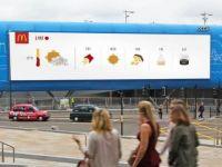McDonald's dự báo thời tiết thông qua chiến dịch quảng cáo DOOH