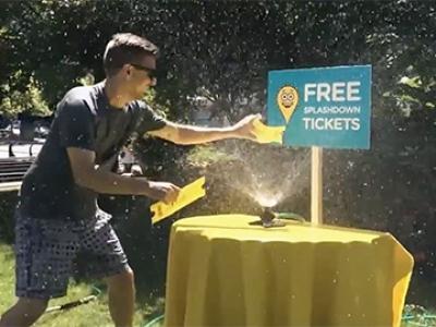 Splashdown Waterpark Get wet for free! Campaign